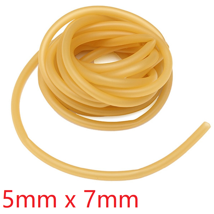 ID 5mm X 7mm OD Nature Latex Rubber Hoses Flexible Pipe High Resilient Elastic Surgical Medical Tube Soft Slingshot Catapult