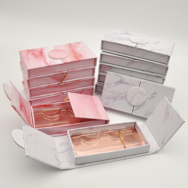 20/pack wholesale custom eyelash packaging box with logo name label lash boxes packaging faux mink lashes strips empty case bulk 4