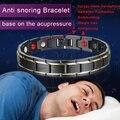 Новинка; Лидер продаж Для мужчин браслет для магнитотерапии Классическая Титановая Сталь Анти-храп здравоохранения DC88 наручные часы проти...