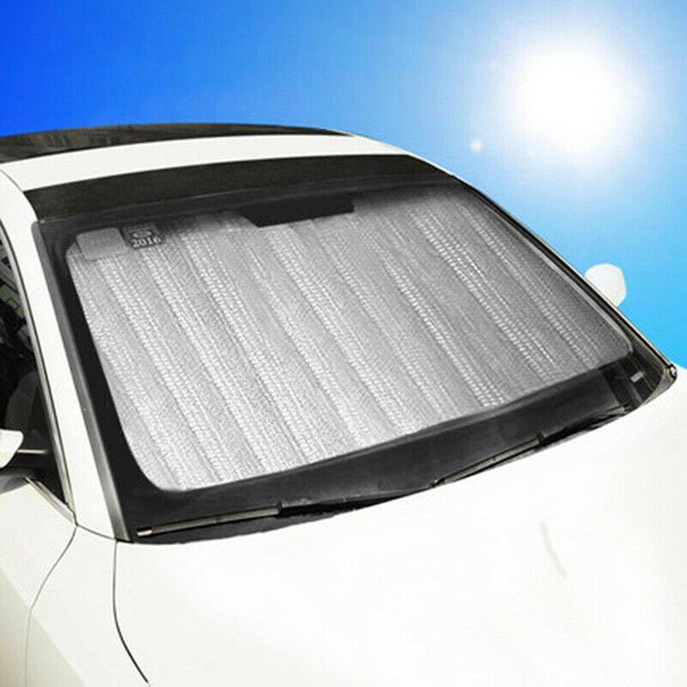 1pc argent voiture pare-brise pare-soleil pare-soleil couverture haute qualité 150*90cm aluminium feuille auto avant pare-brise pare-soleil couverture