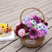 Gerbera Hydrangea Bunch Artificial Flower Fake Hydrangea Artificial Flower Decoration Home Wedding Table P7Ding(China)