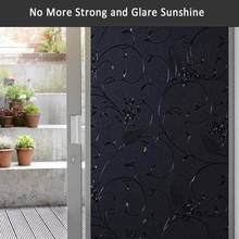 Bunpig trigo flores total blackout privacidade janela filme 100% luz bloqueio de vidro porta filme quarto escurecimento sono janela adesivo