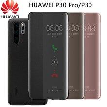 Original Official HUAWEI P30 Pro Case Smart View Window Leather Protection Flip Case HUAWEI P30 Pro Cover Huawei P30 Case Funda