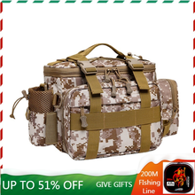 Multifunctional Shoulder Bag Fishing Gear Fishing Bag Waterproof Bag Outdoor Tactical Mountaineering Backpack Portable Nylon