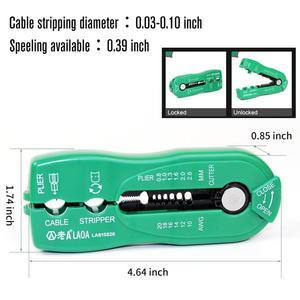 Image 3 - LAOA תכליתי חוט חותך כבל חשפנית קו חוט הפשטה מלחץ כלי מיני נייד יד כלים 0.8 2.6mm LA815826