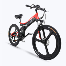 26inch electric mountain ebike  48V electric bicycle max speed 35km/h AL Folding frame Hide lithium battery 400w motor e-bike цена 2017