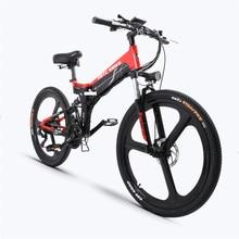 цены 26inch electric mountain ebike  48V electric bicycle max speed 35km/h AL Folding frame Hide lithium battery 400w motor e-bike
