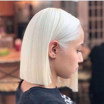 Peluca de encaje blanco 13x6 frontal de cabello humano con pelo de bebé, peluca brasileña con malla frontal para mujeres negras, cabello Remy, cabello Natural