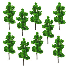 9CM DIY sand table model building materials tree green yellow wire model tree A landscape tree model specifications