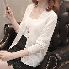 купить Knit Cardigan Jumper Casual Winter Sweater Women Striped V Neck Button Cardigan White Slim Sweater 2019 Sueter Mujer Invierno онлайн