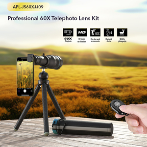 Image 2 - APEXEL HD 60X الهاتف عدسة الكاميرا عدسة مجهر سوبر آلة تكبير تليفوتوغرافي أحادي + ترايبود قابلة للتمديد مع جهاز التحكم عن بعد لجميع الهواتف الذكية