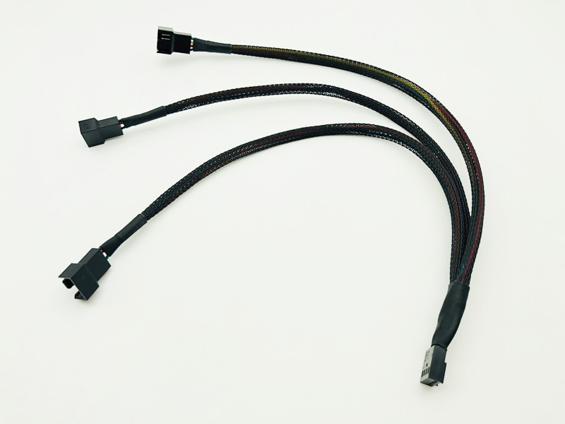 4Pin Splitter Cable 1 To 3 PWM 4P Female To 3/4 Pin PWM Fan Adapter For Computer Case Fan CPU Fan Mining Cooling Fans Hub Cable