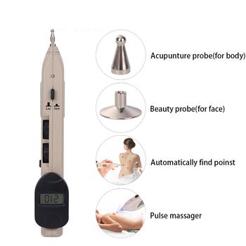 LCD elektroniczna akupunktura masażer Meridian Pen opieka zdrowotna Monitor elektryczny laser akupunktura Meridian magnetoterapia tanie i dobre opinie LISM Z tworzywa sztucznego Akumulator 30cm*20cm*10cm M018 Maszyna wykonana Odmładzanie skóry Masaż wibracyjny 110 v 220 v