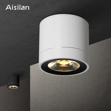 Aisilan LED Downlight Ceiling Lamps Surface Mounted Panel Light for Living Room Bedroom Hallway Kitchen Office COB AC85-260V