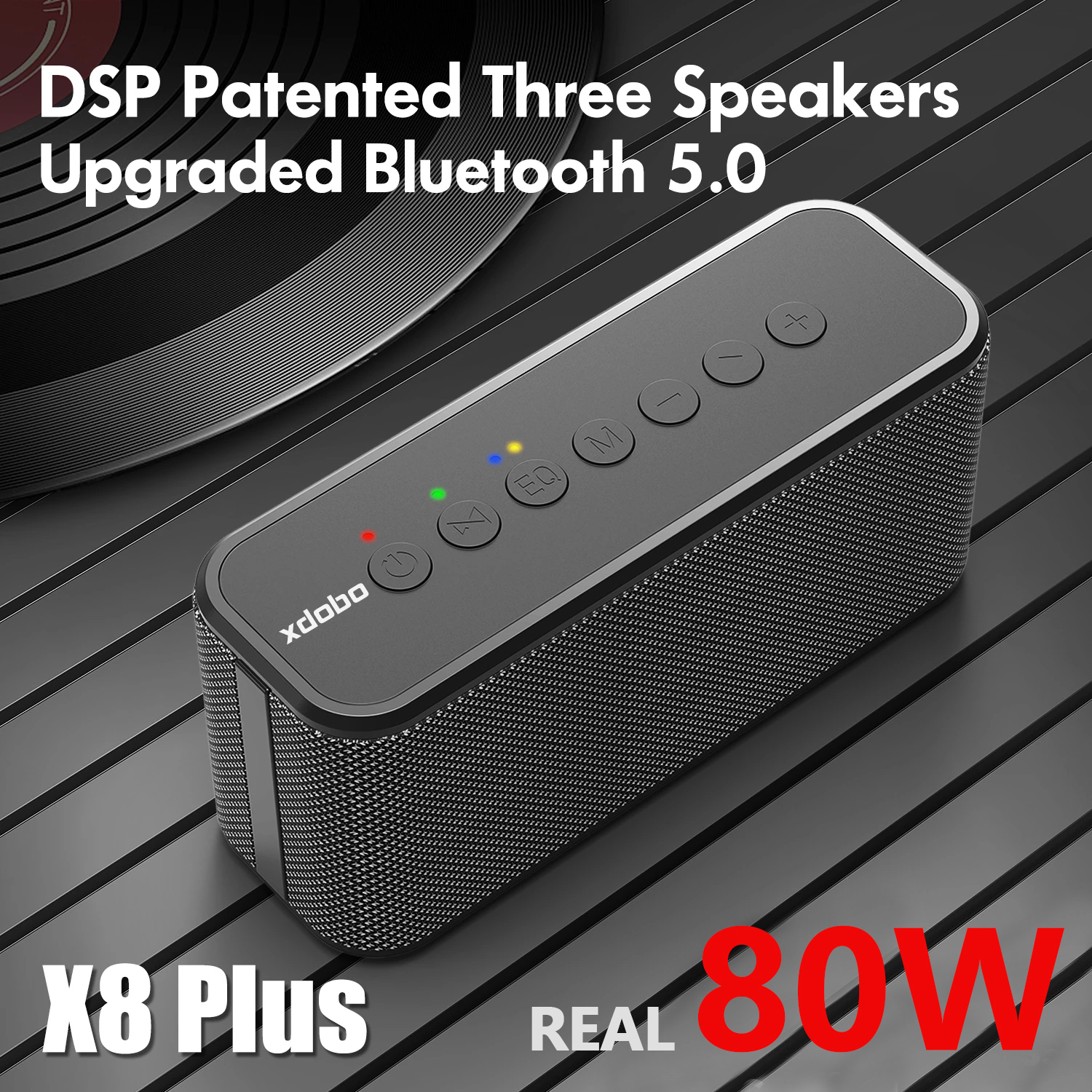 80W XDOBO X8 PLUS Bluetooth Speakers TWS Wireless Heavy Bass Boombox Music Player Subwoofer Portable Column Suporrt USB/TF/AUX
