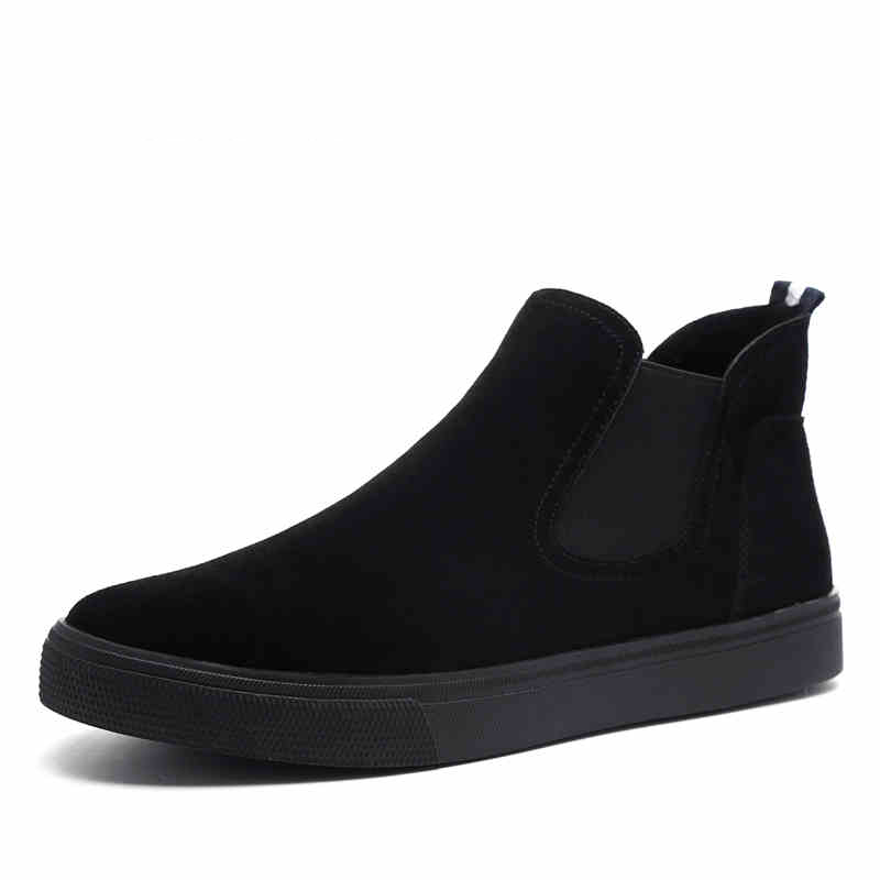 British style mens casual ankle boots flats platform cow leather shoes spring autumn chelsea boot short botas zapatos de hombre