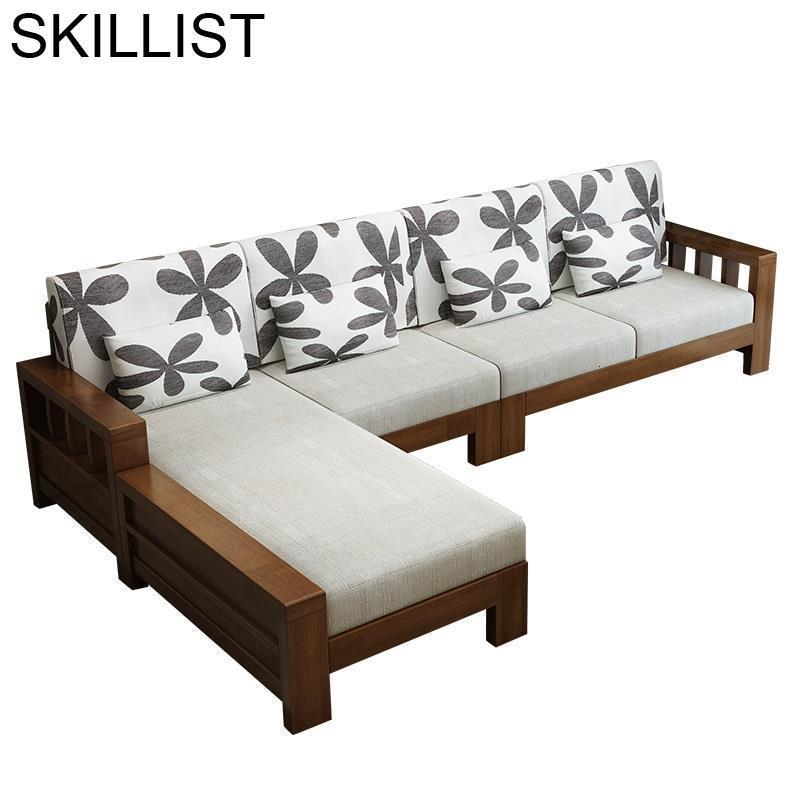 Meble Do Salonu Puff Futon Home Copridivano Oturma Grubu Mobilya Wooden Retro Set Living Room Furniture Mueble De Sala Sofa