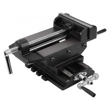 6inch Cross Slide Drill Press Vise Metal Milling Vice Holder Clamping Bench Mount Machinist Vise