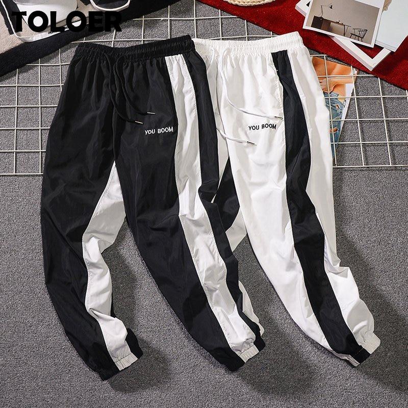 Summer New Men Casual Pants Japan Style Trend Male Drawstring Trousers Men''s Street Hip Hop Sweatpants Students Skateboard Pants