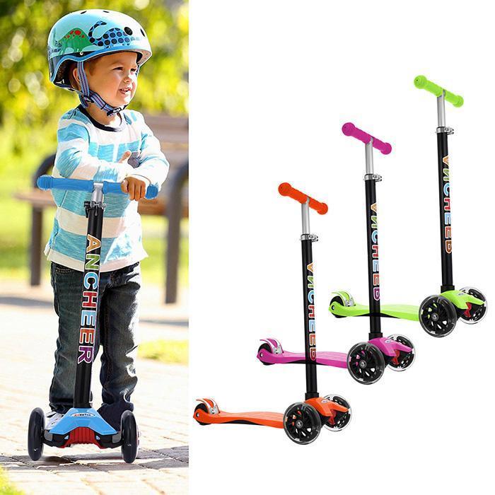 Dla dzieci skuterów, składany, regulowany na wysokość aluminium Unisex Kick ze stopu 3 hulajnoga miasta Roller Skateboard