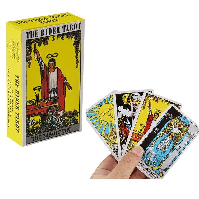 78pcs The Rider Tarot Magician Oracle Card Deck English Tarot Card Deck Guidebook Card Card Game Magical Fate Divination Card 1
