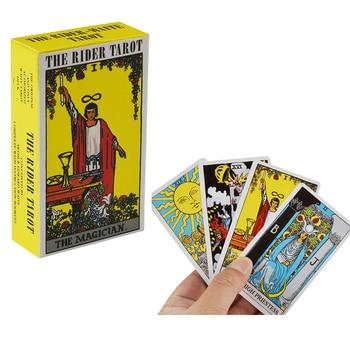78pcs The Rider Tarot Magician Oracle Card Deck English Tarot Card Deck Guidebook Card Card Game Magical Fate Divination Card