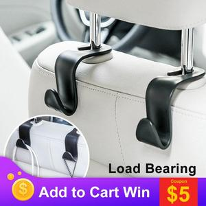 Image 1 - Universal Car Seat Hook Auto Back Seat Headrest Organizer Hanger Storage Holder for Groceries Bag Cloth Handbag Durable