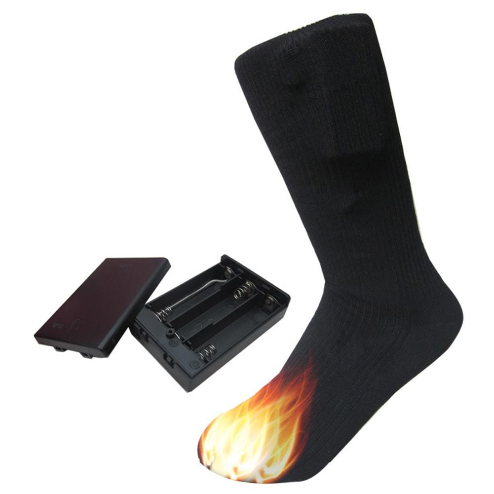 4.5V Outdoors Electric Heated Socks Cotton Sport Ski Socks Men Women Electric Warm Socks Winter Indoors Men Women Warming Socks