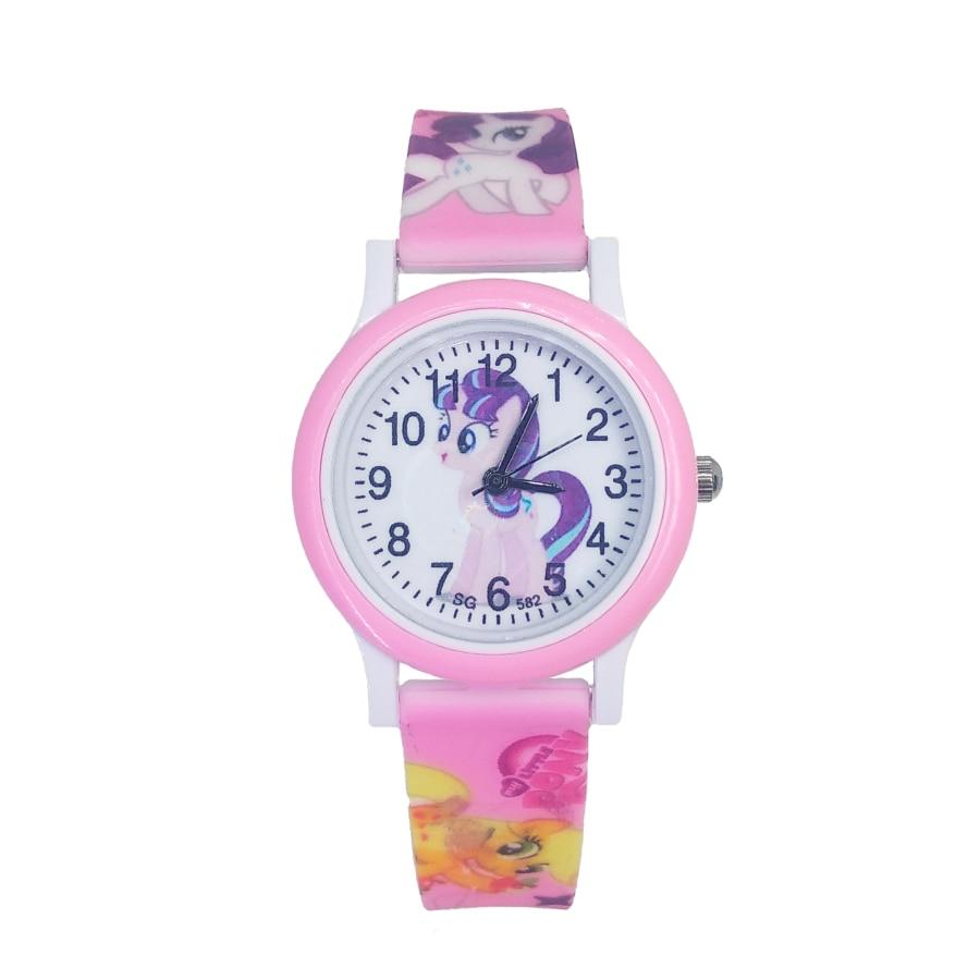 Cute Pretty Horse Style Children's Watches Kids Student Girls Clock Child Quartz Wristwatches Women Watch For Boys Baby Gift