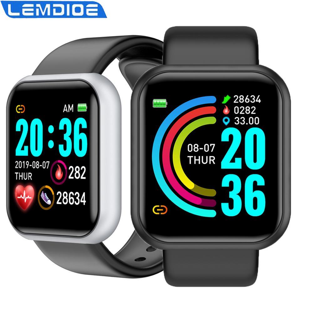 LEMDIOE Smartwatch Fitness Tracker Heart Rate Sleep Monitoring Smart Watch Men For Andriod IOS