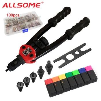ALLSOME BT-605 Riveter Gun tool Hand Insert Rivet Nut Tool Manual Mandrels M3 M4 M5 M6 M8 M10 M12 + Rivet nuts HT2597