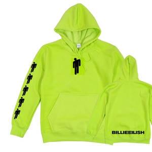 Neon Hoodie Merch-Clothing Sweatshirt Green Long-Sleeve Billie Smile Eilish-Hang Trendy