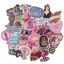 Ransitute R1020 35pcs/set Feminist Themes Cartoon Scrapbooking Stickers Decal For Guitar Laptop Luggage Fridge Graffiti Sticker