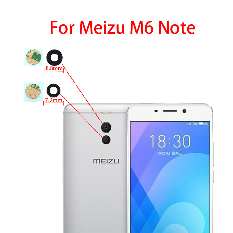 Rear <font><b>Camera</b></font> Lens Back <font><b>Camera</b></font> Glass Cover Lens For <font><b>Meizu</b></font> Pro 6 plus 6S 7S <font><b>16TH</b></font> M6S M6T M5 M5s M6 Note 8 V8 With Sticker Glue image