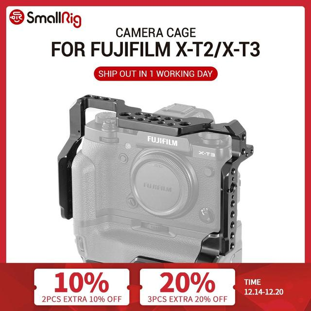 SmallRig DSLR Camera Cage for Fujifilm X T3 / for Fujifilm X T2 Camera with Battery Grip Free Shipping 2229
