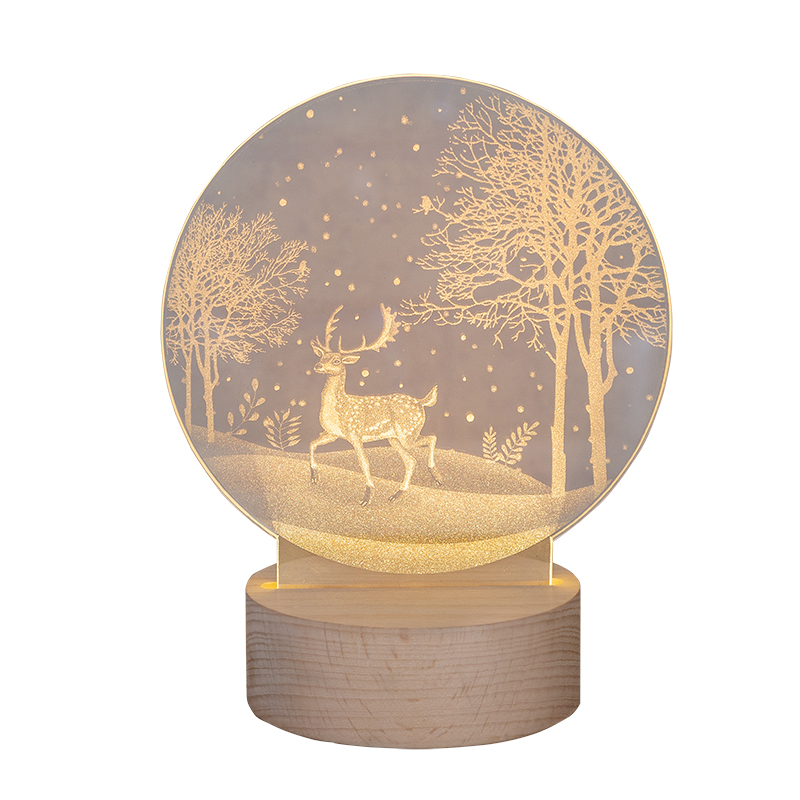 Northern Europe Fawn Lamp Ins Bedside Desk Lamp Charge Milu Night Lamp Night Rise Nurse Small Night Lights, Christmas Gift Desk