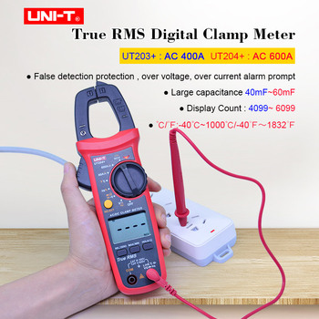 цены Digital Clamp Meter UNI-T UT203+ UT204+ T-RMS Multimeter AC DC voltage current tester Resistance Frequency Diode Continuity test