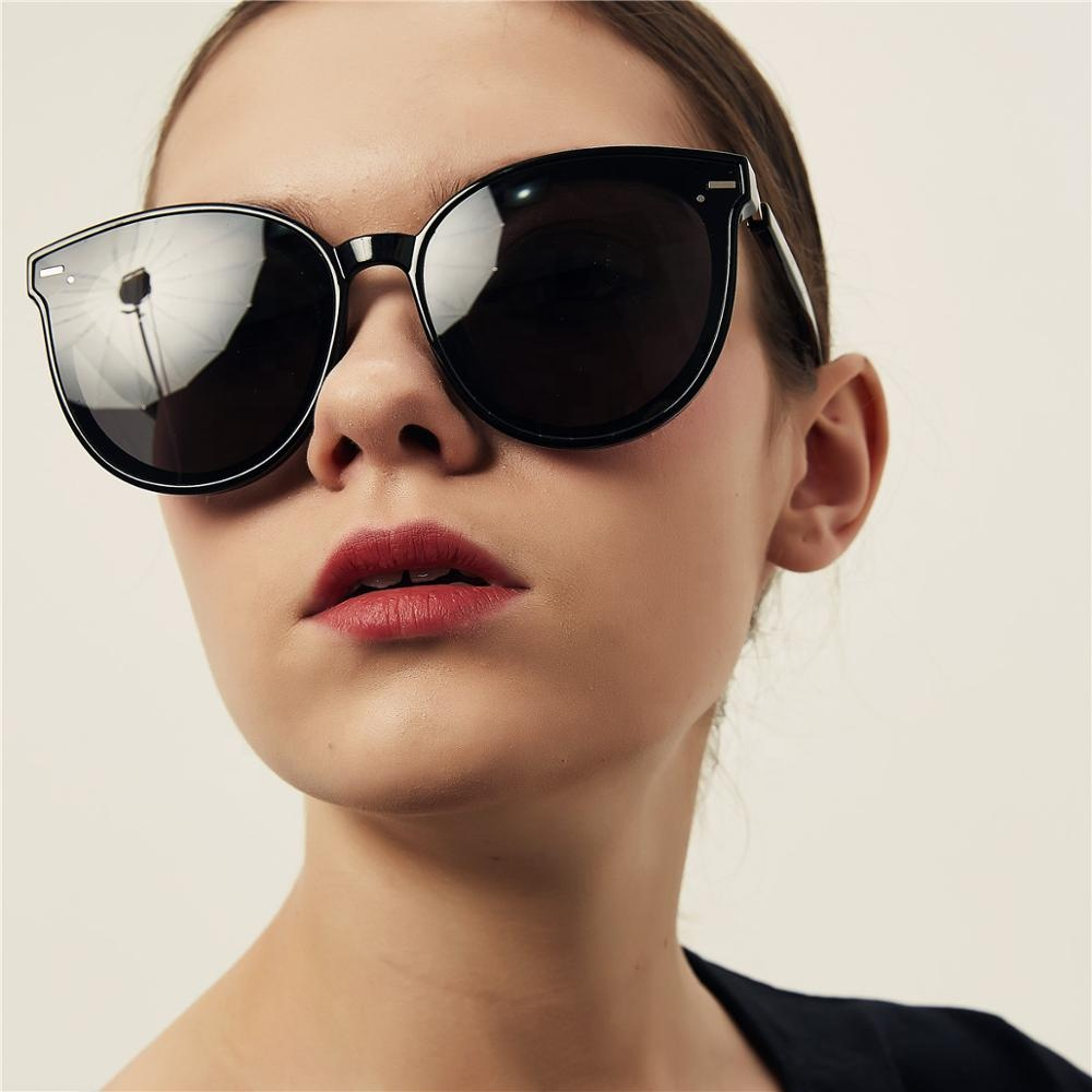 2020 New Trending Product Vintage Round black Sunglasses Women Frame Retro Classic Rivet Leopard Steampunk Halley Rihanna Gg