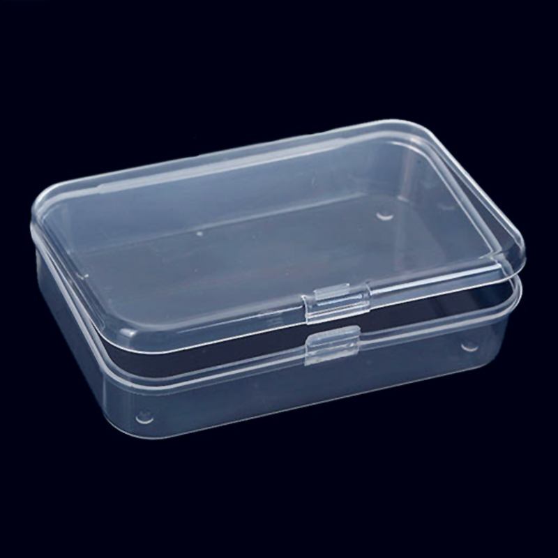 2Pcs Practical Transparent Fine Storage Box Collection Container Case With Lid Packaging Box Beads/Jewelry Gift Box