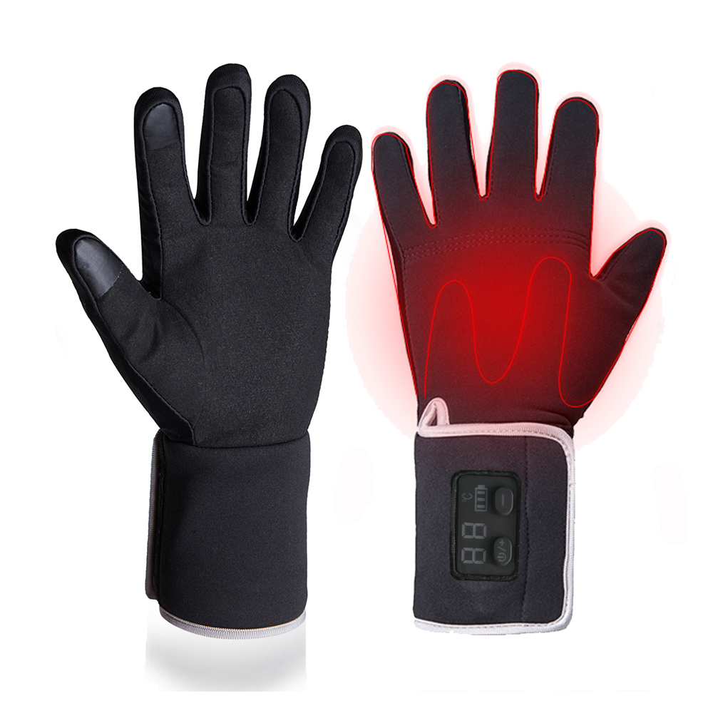 Winter Electric Heating Gloves For Riding Biking Fishing Outdoor Sports Use 3-6 Hours 2200mAh Battery Heated Gloves Touch Screen