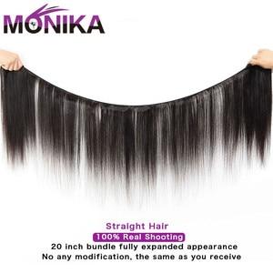 Image 2 - Monika zestawy hurtowe ludzkie włosy Tissage brazylijskie ludzkie włosy splot wiązki proste włosy pojedyncze zestawy oferty nierealne włosy