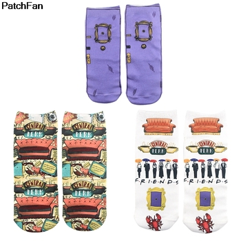 Patchfan friend tv show cosplay New Cartoon Anime Printed Women Socks Ankle Kawaii party favor gift A2700