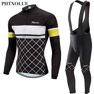 Image 3 - Phtxolue 2020 зимние теплые флисовые велосипедные трикотажные комплекты MTB велосипедная одежда Maillot Ropa Ciclismo зимняя велосипедная одежда