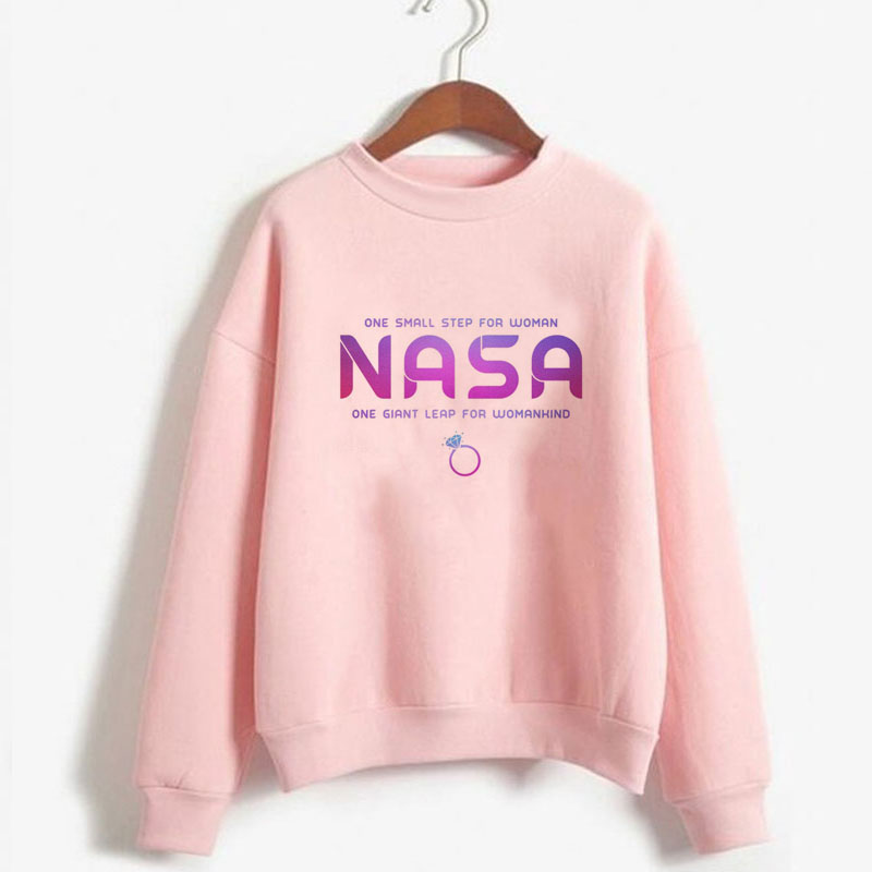 Ariana Grande Hoodie 7 Rings Space Sweatshirt Women One Small Step For Woman One Giant Leap For Womankind Girl Power Feminist
