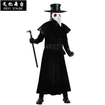 new Anime Assassin's Creed Beak evil doctor Uniform halloween Cosplay Costume for Adult Hooded Men's clothing Carnival For adult