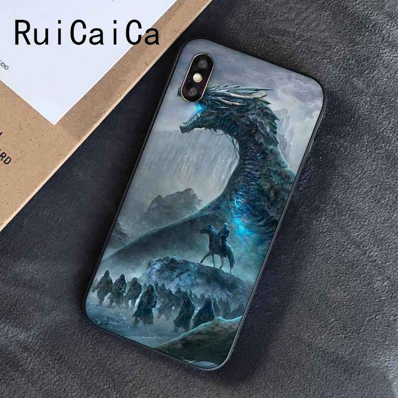 Tyrion lannister Game of Thrones Daenerys Dragão Jon Snow Ruicaica Caixa Do Telefone para o iphone 8 7 6 6 6S mais X XS MAX 5 5S SE XR 10