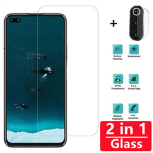 2 in 1 Full Cover 9H Screen Protector For Huawei Honor V30 V20 8X 9X 9 10 lite 20i 10i Tempered Glass Camera Lens on film 2 in 1 full cover 9d tempered glass for huawei honor 9x 9x pro 8x 8a 8c 8s v20 v30 10 20 10i 20i 10 20 lite screen protector