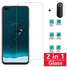 2 in 1 Full Cover 9H Screen Protector For Huawei Honor V30 V20 8X 9X 9 10 lite 20i 10i Tempered Glass Camera Lens on film 2 in 1 full cover 9d tempered glass for huawei honor v30 v30 pro v20 screen protector