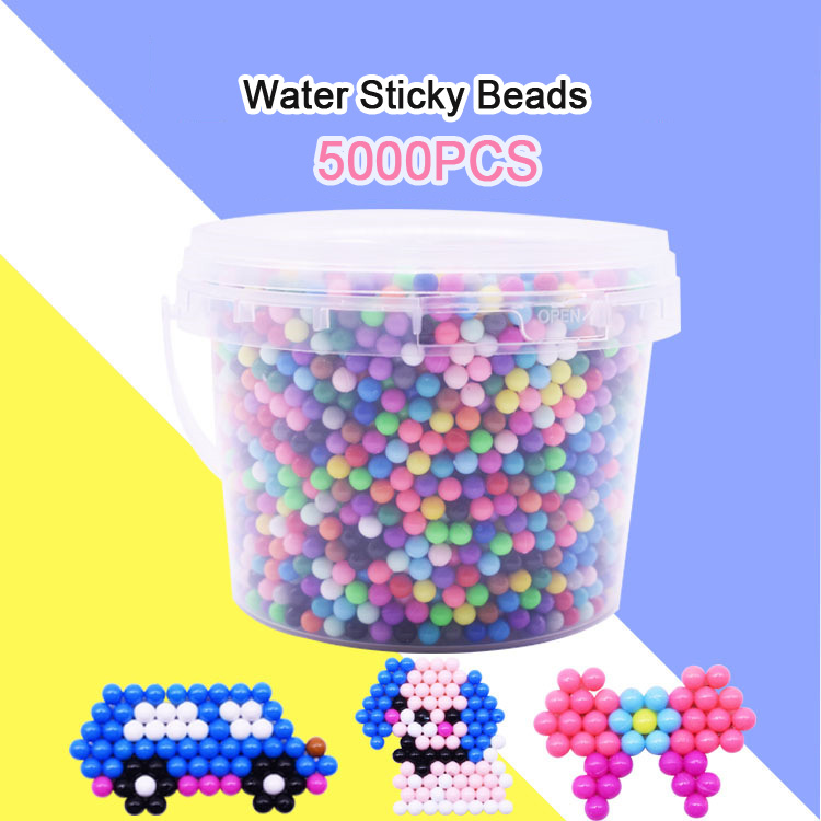 Yantjouet Water Sticky Beads Barrel 24color 5000pcs With Accessary Toys For Children Education Brain Aqua Girls Boys