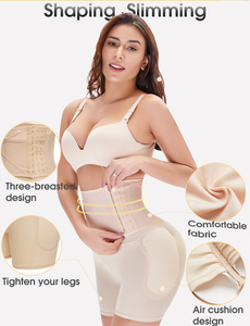 Image 5 - Culotte rembourrée sans couture, mince, taille haute, vêtement de maintien ferme, culotte, rehausseur de hanches, rehausseur de fesses, court, rehausseur